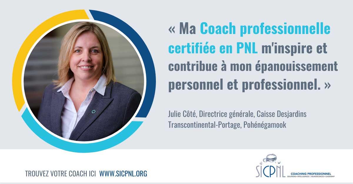 """Campagne 2021 """"Trouvez votre Coach"""" - Témoignage de Julie Côté"""