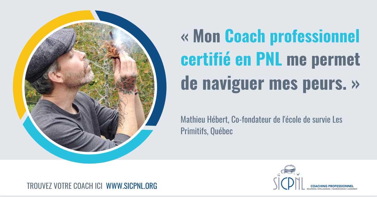 """Campagne 2021 """"Trouvez votre Coach"""" - Témoignage de Mathieu Hébert"""