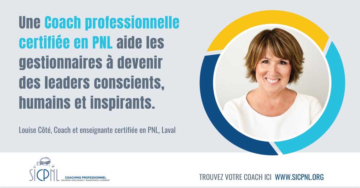 """Campagne 2021 """"Trouvez votre Coach"""" - Témoignage de Louise Côté"""